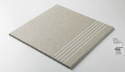 Plat de marche carrelage pour sol en grès cérame pleine masse DOTTI dim.30x30cm coloris light grey - Doublage isolant plâtre + polystyrène PREGYSTYRENE TH32 ép.13+90mm larg.1,20m long.2,60m - Gedimat.fr