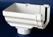 Naissance d'extrémité gauche de gouttière PVC CLASSIC pour descente carrée coloris blanc - Mamelon laiton brut réduit 245 mâle diam.15x21mm / mâle diam.12x17mm 1 pièce - Gedimat.fr