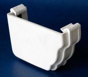 Fond gauche de gouttière PVC CLASSIC coloris blanc - Plan de travail stratifié ép.38mm larg.65cm long.2,9m R4 décor blanc artic - Gedimat.fr