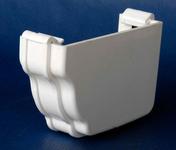 Fond droit de gouttière PVC CLASSIC coloris blanc - Mamelon laiton brut réduit 245 mâle diam.15x21mm / mâle diam.12x17mm 1 pièce - Gedimat.fr