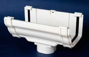 Naissance centrale de gouttière PVC CLASSIC pour descente carrée coloris blanc - Accessoires de fixation - Couverture & Bardage - GEDIMAT
