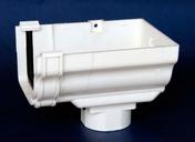 Naissance d'extrémité droite de gouttière PVC CLASSIC pour descente carrée coloris blanc - Plan de travail stratifié ép.38mm larg.65cm long.2,9m R4 décor blanc artic - Gedimat.fr