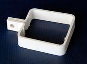 Collier de descente carrée pour gouttière PVC CLASSIC coloris blanc - Mamelon laiton brut réduit 245 mâle diam.15x21mm / mâle diam.12x17mm 1 pièce - Gedimat.fr