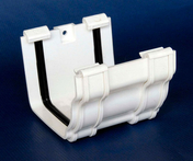 Jonction de gouttière PVC CLASSIC coloris blanc - Plan de travail stratifié ép.38mm larg.65cm long.2,9m R4 décor blanc artic - Gedimat.fr