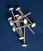 Clous inox pour planche de rive PVC à tête coloris blanc long.15cm - sachet de 100 - Planches de rives - Sous-faces - Couverture & Bardage - GEDIMAT