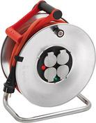 Enrouleur prolongateur SILVER avec cable de 25m 4 prises + disjoncteur thermique - Rallonges - Enrouleurs - Electricité & Eclairage - GEDIMAT