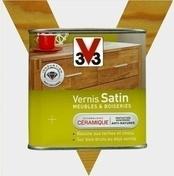 Vernis satin V33 Meubles & boiseries 0,5 litre chêne doré - Gedimat.fr