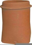 Mitre en terre cuite avec collerette haut.50cm long.25cm larg.50cm diam.20cm - Conduits de cheminée - Boisseaux - Matériaux & Construction - GEDIMAT