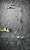 Colonne de douche NF THETA confort chromé - Double PC 2P+T CEDAR + Gris IP44 en saillie - Gedimat.fr