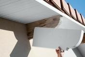 Protège-panne en PVC ép.90 mm haut.250 mm long.600 mm Blanc - Clins - Bardages - Couverture & Bardage - GEDIMAT