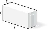 Bloc de béton cellulaire M211 ép.20cm long.60cm haut.30cm - Brique terre cuite feuillure + demi-feuillure POROTHERM R30 ép.30cm haut.24,9cm long.31,4cm - Gedimat.fr