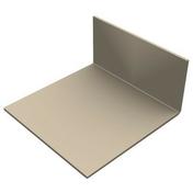 Cornière PVC de finition en L pour bardage cellulaire original 50 x 100 mm Long.5 m Gris foncé - Profil PVC départ clipsable ép.5 à 8 mm long.2,60m grey - Gedimat.fr