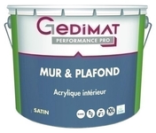 Peinture acrylique mur & plafond satin blanc 10 L GEDIMAT PERFORMANCE PRO - Dalle OSB3 rainurée 4 Rives ép.16mm larg.910mm long.2,00m - Gedimat.fr