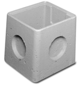 Regard béton RM40 avec emboitement int.40x40x30cm ext.47x47x35 - Regards - Réhausses - Matériaux & Construction - GEDIMAT