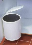 Poubelle ronde 13L acier laqué blanc - Accessoires cuisine - Cuisine - GEDIMAT