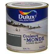 Peinture acrylique murale COULEUR DU MONDE aspect satiné pot de 500ml coloris Long island intense - Fronton pour faîtière angulaire à emboîtement coloris ardoisé - Gedimat.fr