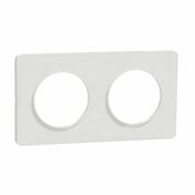 Plaque de finition double horizontale pour appareillage encastré à composer Odace Touch blanc-liseré blanc - Porte seule FUJI haut.2,04m larg.83cm revêtu mélaminé finition gris basalte - Gedimat.fr