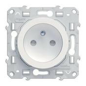 Prise de courant 2P + Terre encastrée à composer connexion rapide à vis Odace blanc - Poussoir encastré à composer commande simple Odace à vis 10 ampères blanc - Gedimat.fr