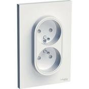 Double prise 2P+T Odace blanc - Interrupteurs - Prises - Electricité & Eclairage - GEDIMAT