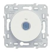 Prise de communication TV encastré à composer à vis Odace blanc - Antennes et Accessoires TV - Electricité & Eclairage - GEDIMAT