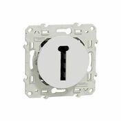 Prise de communication téléphone en T encastré à composer 8 contacts à vis Odace blanc - Kit HYGROPT'AIR 4S BC - Gedimat.fr