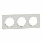 Plaque de finition triple horizontale pour appareillage encastré à composer Odace Styl blanc - Interrupteurs - Prises - Electricité & Eclairage - GEDIMAT