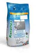 Mortier colle amélioré KERAFLEX sac de 5kg - classe C2TE coloris gris - Dalle pierre naturelle Bluestone tambourinée Vietnam ép.2,5cm dim.15x15cm coloris bleutée - Gedimat.fr