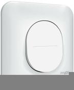 Interrupteur va et vient encastré mono référence commande simple Ovalis blanc - Clips métallique de fixation pour lambris - Gedimat.fr