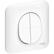 Interrupteur double va et vient encastré mono référence Ovalis blanc - Entrevous béton ép.16cm larg.53cm long.20cm - Gedimat.fr