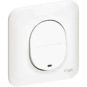 Poussoir lumineux pour appareillage encastré mono référence Ovais blanc - Interrupteurs - Prises - Electricité & Eclairage - GEDIMAT