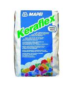 Mortier colle amélioré KERAFLEX sac de 25kg - classe C2TE coloris gris - Mortier de jointoiement KERACOLOR GG classe CG2WA sac de 25kg coloris gris argent - Gedimat.fr
