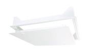 Trappe de plafond pvc TPO51 dim.510x510mm blanc - Clips R0,5 + pointes - boite de 20 pièces - Gedimat.fr