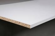 Tablette mélaminée ép.16mm larg.40cm long.2,04m Blanc Yukon finition Perlé - Tube cuivre écroui SANCO en barre droite diam.extérieur 10mm long.2m - Gedimat.fr