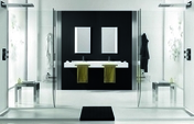 Porte-serviettes gauche pour plan de toilette Dream en akron ardesia blanc - Kit 2 spots LED + convertisseur finition chromé - Gedimat.fr