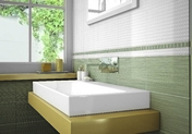 Carrelage pour mur en faïence IPER GLOSSY larg.20cm long.33,3cm coloris touch glossy - Emaux de verre de 2,5x2,5cm pour mur et piscine LISA sur trame de 31,1x46,7cm coloris blanco - Gedimat.fr