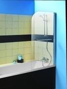 Ecran de baignoire 1 volet avec porte-serviette FARA haut.140cm larg.80cm Verre transparent - Ecrans de baignoire - Salle de Bains & Sanitaire - GEDIMAT