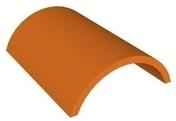Faîtière demi-ronde de 33 cm coloris brun - Planelle terre cuite POROTHERM à rupture thermique long.80cm larg.6,5cm haut.16cm - Gedimat.fr