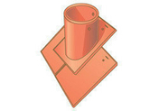 Tuile à douille POMMARD sans chapeau diam.100mm coloris sable bourgogne - Tuile ALPHA 10 coloris rouge nuancé - Gedimat.fr