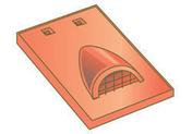 Tuile châtière pour tuiles plates 17x27 coloris sable bourgogne - Tuile de rive gauche universelle gauche DOUBLE ROMANE coloris brun - Gedimat.fr
