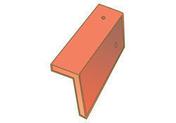 Rive à rabat droite pour tuiles GRAND CRU et POMMARD coloris sablé bourgogne - Tuile ALPHA 10 coloris rouge nuancé - Gedimat.fr