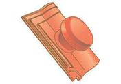 Tuile à douille ROMANEE avec chapeau diam.100mm coloris rouge - Chevêtre ULYSSE section 12x20 cm long.1.20m - Gedimat.fr