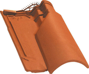 Tuile de ventilation OMEGA 10 + grille coloris rouge - Bloc béton creux B40 NF ép.27,5cm haut.25cm long.50cm - Gedimat.fr