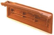 Rive individuelle gauche à emboîtement OMEGA 10 coloris vieux toits - Té à sertir pour tube multicouche Fluxo diam.20mm femelle à visser diam.15x21mm - Gedimat.fr