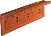 Rive individuelle droite à emboîtement OMEGA 10 coloris vieux toits - Kit profilés latéraux traverse basse UK08 - Gedimat.fr