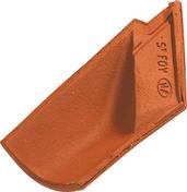 Closoir d'arêtier gauche casson OMEGA 10 coloris vieilli nuance sur fond rouge - Bloc-porte battant PRIMA 2040x830mm palissandre blanc - Gedimat.fr