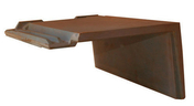 Rive à rabat droit à emboîtement BEAUVOISE coloris ardoise - Platoir à gréser semelle ABS renforcée poignée plastique 30x14cm - Gedimat.fr