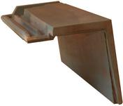 Demi-tuile à rabat droite à emboitement BEAUVOISE coloris ardoise - Platoir à gréser semelle ABS renforcée poignée plastique 30x14cm - Gedimat.fr