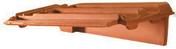 Rive à rabat droite à emboîtement PV13/H14 coloris flammé rustique - Tuile PV13 Huguenot coloris flammé rustique - Gedimat.fr