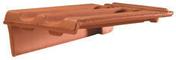 Rive à rabat gauche à recouvrement PV13/H14 coloris flammé rustique - Tuile PV13 Huguenot coloris flammé rustique - Gedimat.fr