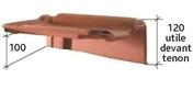 Rive à rabat droite à emboîtement PANNE H2 HUGUENOT coloris rouge - Poutrelle en béton LEADER 113 haut.11cm larg.9,5cm long.3,50m coutures - Gedimat.fr